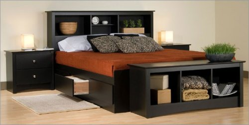 Queen Size Black 5 Piece Bedroom Set