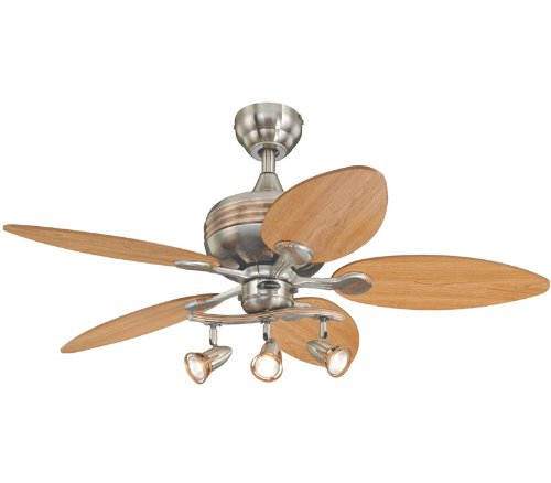 Westinghouse 7226565 Xavier 44 Inch Ceiling Fan, Brushed Nickel Finish
