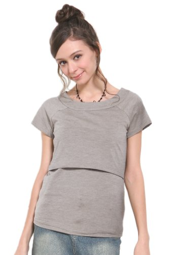 Sweet Mommy Maternity And Nursing Short Sleeve Tee Mgrm front-780095