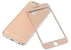 Kapa Front + Back Full Coverage Titanium Alloy Tempered Glass Body Scratch Guard Protector for iApple Iphone 6 Plus / 6S Plus - Gold