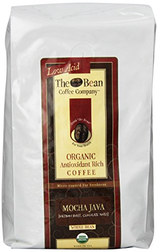 The Bean Coffee Company Organic Mocha Java, Whole Bean, 36-Ounce