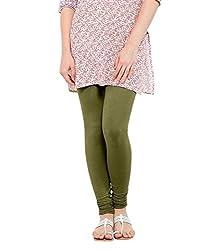 Lard Women's Cotton Leggings (Lard4_Green_Free size)