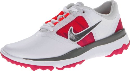 Nike Golf women's FI Impact Golf Shoe,White/Grey/Vivid Pink,6 M US