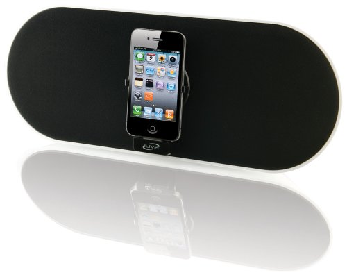 Ilive Isp691B App-Enhanced 2.1 Speaker With Remote Control And Rotating Dock For Iphone/Ipod