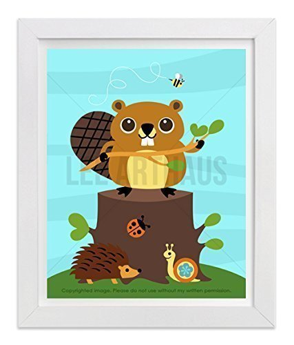 183-beaver-holding-tree-branch-unframed-wall-art-print-by-lee-arthaus