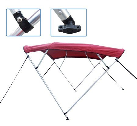New Burgundy Pontoon / Deck Boat Vortex 4 Bow