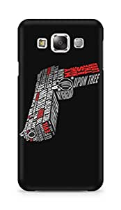 Amez designer printed 3d premium high quality back case cover for Samsung Galaxy E5 (Pistol gun pulp fiction)