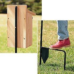 Erva Pole Bluebird Mounting Pole w/Stability Blade 2 Piece