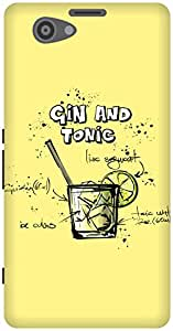 The Racoon Grip printed designer hard back mobile phone case cover for Sony Xperia Z1 Compact. (Lemon Gin)