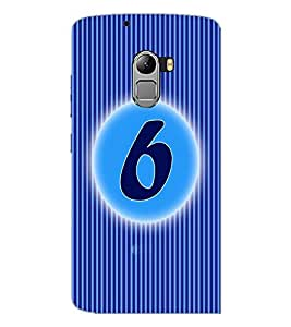 PrintDhaba Numerology Number 6 D-2561 Back Case Cover for LENOVO VIBE K4 NOTE (Multi-Coloured)