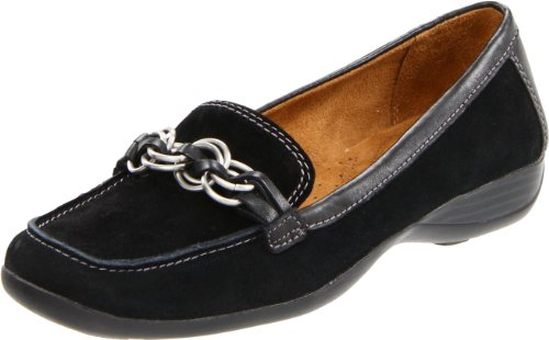Naturalizer Women's Carlene Loafer,Black Suede,4.5 M US