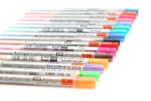 Uni-Style à encre Gel Multi-Cartouche d'encre - 0,28 mm-Vert anis