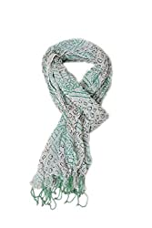 Women's Cotton Long Scarf Dupatta White Colored