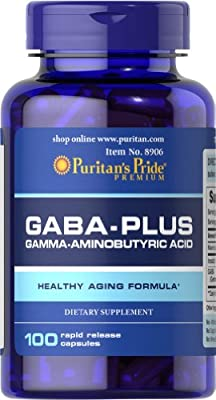 Puritan's Pride GABA (Gamma Aminobutyric Acid) Complex-100 Capsules