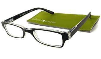 Gabriel + Simone Reading Glasses - Saint-Germain Black / Black & Clear +1.00-SAINTGERMAINBLK100