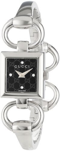 Gucci Women's YA120507 Tornabuoni Square Black Dial Watch