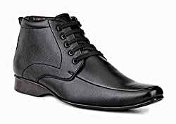 Mactree Mens Black Artificial Leather Lace Up Boots 2966-6