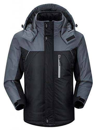 Ubon-Mens-Waterproof-Windproof-Outdoor-Snow-Jacket-Ski-Fleece-Jacket