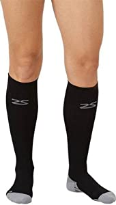Zensah Athletic Performance Compression Socks - Black, Small