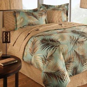 Amazon Com Palm Tree Beach Tropical King Comforter Set