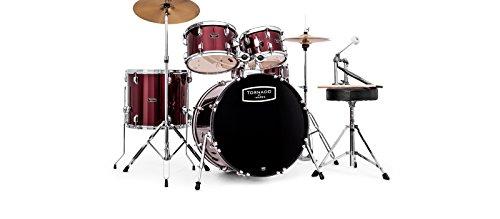 Mapex, Drum, Set, Tornado, 5 pcs, with Hardware, Throne-Cymbals, Dark Burgandy