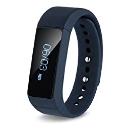 Smart Bracelet Ronkoen I5 Smart Bluetooth Sports Bracelet Wireless Fitness Pedometer Tracker Activity Tracker with Monitoring Calories Track Steps Counter Sleep for Sports Fitness-Blue