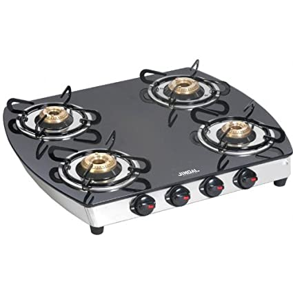 Jindal Gloria Curve 4 Burner Auto Ignition Gas Cooktop