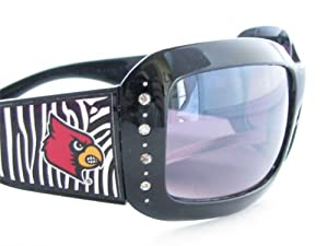 Buy Louisville Cardinals UL Black Zebra Print Clear Crystal Ladies Fashion Sunglasses S4ZB by Sports Accessory Store