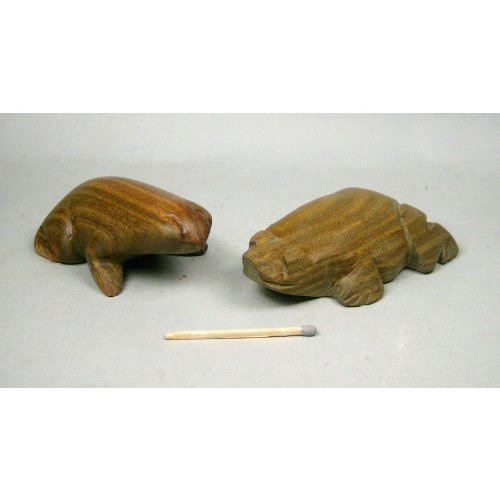 Artesania Indigena Frosch, Schnitzerei Aus Palo-Santo-Holz, Ca. 8X5X3Cm