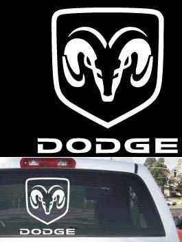 Dodge Ram badge rear window decal