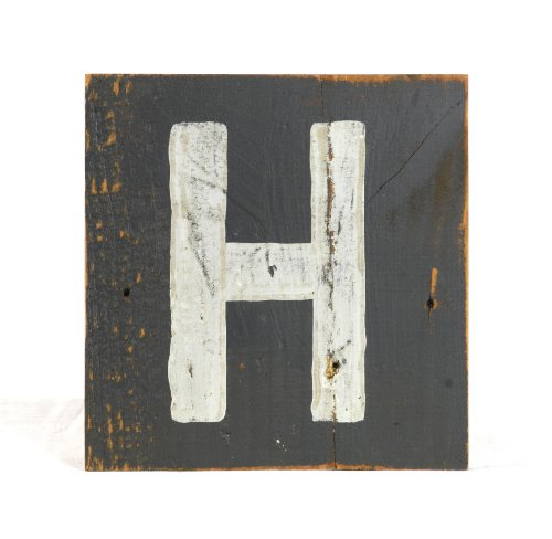 ZENTIQUE Wooden Letter, Small, Monogrammed H