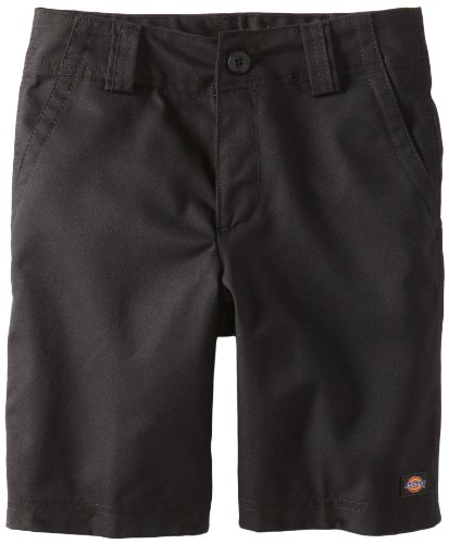 Dickies Big Boys' Uniform Relaxed Fit Hollywood Waist Short, Black, 20