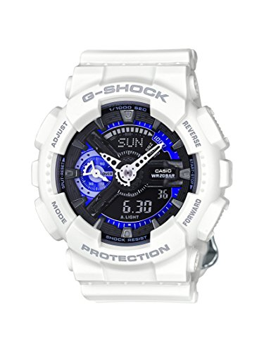 Casio G-Shock Black Dial Resin Multi Quartz Ladies Watch GMAS110CW-7A3 (Ladies Blue Dial Watch compare prices)