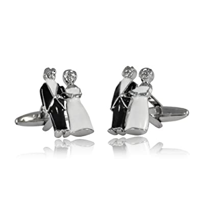 Wedding Bride and Groom Cufflinks with Gift Box