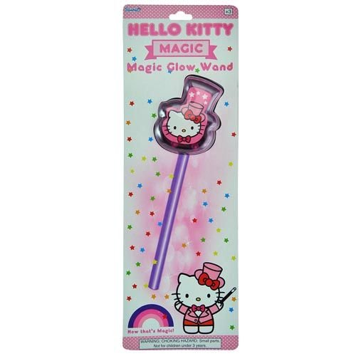 "Hello Kitty Magic Light Up Glow Wand By Sanrio Over 10"" Long! Just Bend & Shake to Activate"
