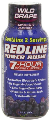 Vpx Redline Power Rush 7Hr Energy Shot Beverage, Wild Grape, 2.5-Ounce Bottles (Pack Of 24)