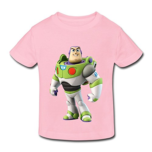 Kids Toddler Toy Story Buzz Lightyear Little Boy's Girl's T Shirts LightPink Size 4 Toddler