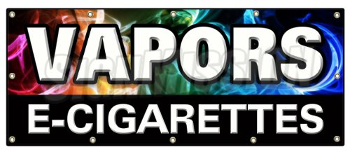 "48""X120"" Vapors E-Cigarettes Banner Sign Pipe Eliquid Flavor Concentrate Nicotine"
