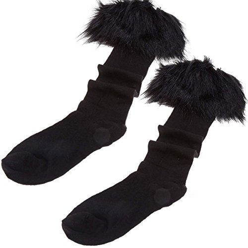 MEXI Women's Faux Fur Snow Socks Leg Warmer Stocking Fur Cover Cuff Boots Shoes