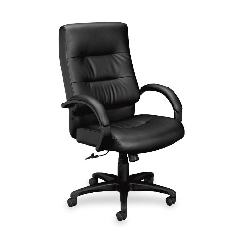 HON VL690 High-Back Chair with Padded Arms for Office or Computer Desk, Black