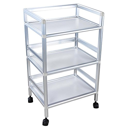 Rolling Trolley Cart Shelves Hair Beauty Salon Spa Storage Equipment Organizer