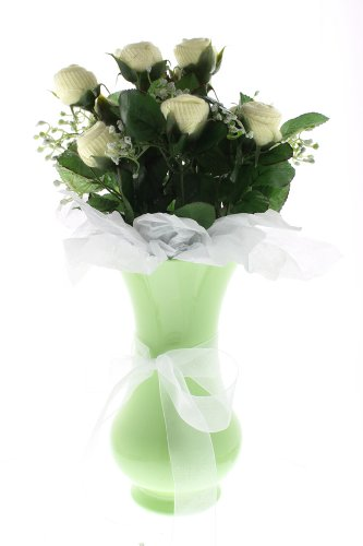 Neutral Small Bootie Bloom - Yellow Socks - Green Vase