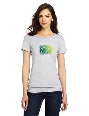 Oakley Women's Watercolor Logo Tee, Heather Grey, X-Small