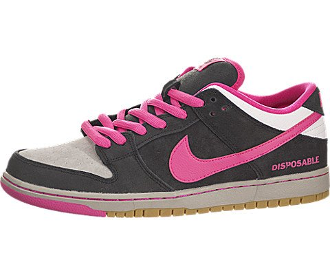 Nike-Mens-Dunk-Low-Premium-SB-Disposable-Leather-Skateboarding-Shoes-BlackPink