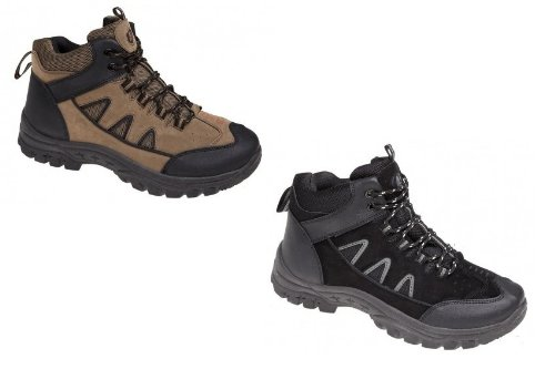 Mens Brown Olive Black High Hi Cut Lace Up Hiking Walking Trail Boot Trainer