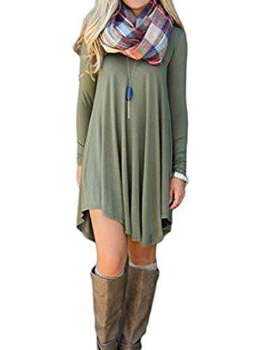 Summer-Mae-Womens-Long-Sleeve-Casual-Loose-T-Shirt-Dress