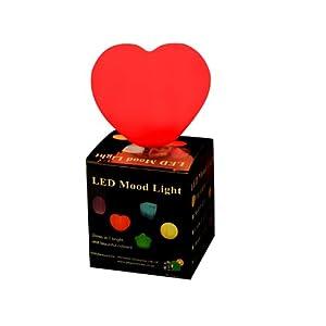 Pk green lampe lumière d'ambiance à led qui change de couleur - coeur multicolor