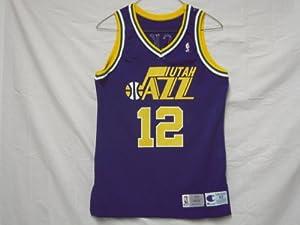 1993-94 Utah Jazz #12 John Stockton Game Worn Jersey by Champion
