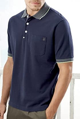 Blue Harbour Cotton Blend Short Sleeve Polo Shirt [T28-6783B-S]