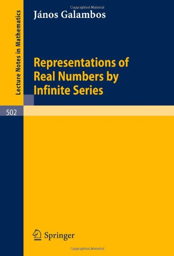 Representations of Real Numbers by Infinite Series